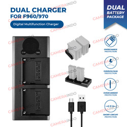 Dual charger battery for Sony NP-F570 F970