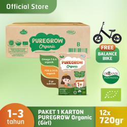 1 Carton PUREGROW Organic 720gr Girl Version Free Balance Bike