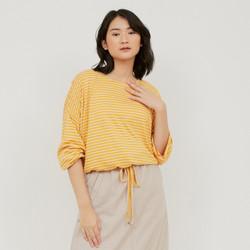 Graphis Knit Yellow Stripe Dropshoulder