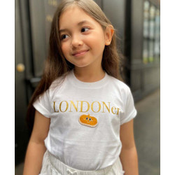 Kids Talk About Londoner Holiday Tee Gold Patch Limited Edition Unisex