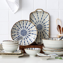 UCHII HANABI Set Exclusive Ceramic Dinnerware 21pcs Alat Makan Keramik