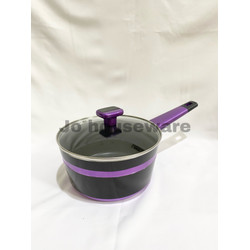 Panci saucepan tutup kaca teflon lis diameter 20 cm premium PC0013TPR
