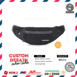 Waistbag Pria Custom Tas Slempang Desain Brand Logo Sendiri Tas Custom
