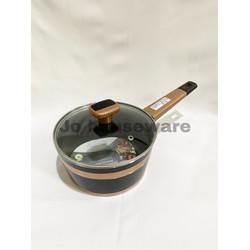 Panci saucepan tutup kaca lis teflon diameter 18 cm premium PC0012TCP