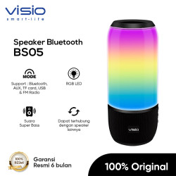Visio BS05 Bluetooth Speaker AUX USB Memory Card by Strawberry