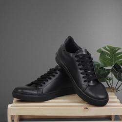 Sepatu Sneaker Pria Roger Full Black