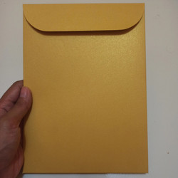 Amplop A5 Tebal Undangan Potrait Premium Jasmine Cream Gold 16x22