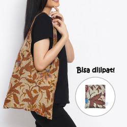 Anakara Tas Belanja Lipat Batik Classic Flower - Brown