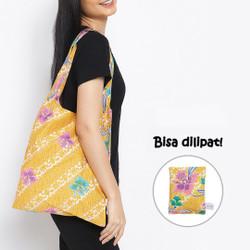 Anakara Tas Belanja Lipat Batik Yelly Flowy - Yellow