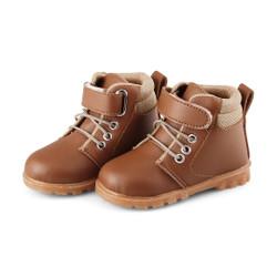 Sepatu boot anak cowok model doctmart tan