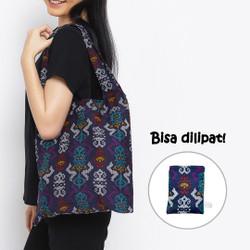 Anakara Tas Belanja Lipat Batik Livina - Blue