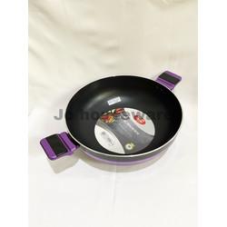 Wajan lis teflon anti lengket diameter 32 cm penggorengan premium teba