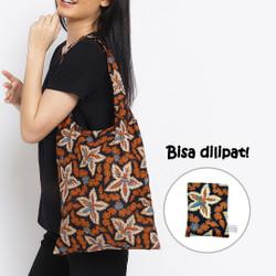 Anakara Tas Belanja Lipat Batik Estella - Black