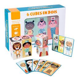 TweedyToys - Puzzle Kubus Karakter Six Cubes En Bois