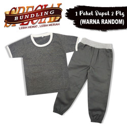 Wakakids Paket Hemat Pakaian Anak Laki Laki 1 - 4 Tahun 2in1 AB10