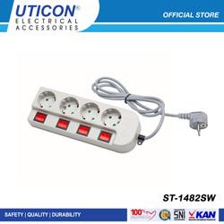 UTICON Stop Kontak 4 Lubang 1.5 Meter ST - 1482SW / Original