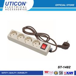 UTICON Stop Kontak 4 Lubang ST - 1482 / Original