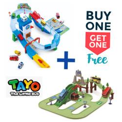 BUY 1 GET 1 FREE Tayo Track Playset +Tayo Road Expanding 113002/217031