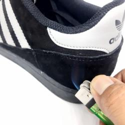 Sepatu Pria Adidas Campus Double Suede Hitam Abu Casual Sekolah Santai