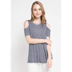 GRAPHIS Stripes Off Shoulder Blouse