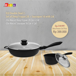 ELO Double Deal 2 - Set of Deep Frypan 28 + Saucepan 16 with Lid