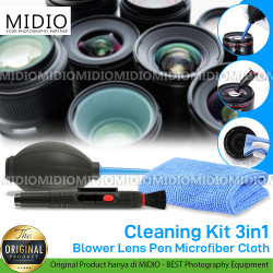 Cleaning Kit 3in1 Blower Lens Pen Microfiber Cloth