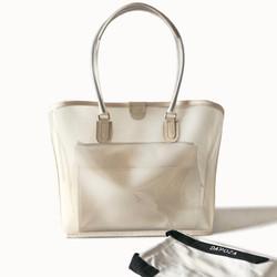 Dapoza Visi Bag Creme Set Canvas Tas Tote PVC Transparan Wanita