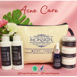 Paket : MONSKIN - Acne Care (6 items) Free Pouch
