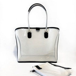 Dapoza Visi Bag Latte Leather Tote Transparan / Tas kulit wanita
