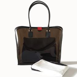 Dapoza Visi Bag Boba Set Nylon Tas Tote PVC Transparan Wanita