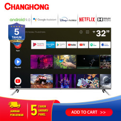 Changhong Framless Google certified Android Smart 32 Inch LED TV L32H7