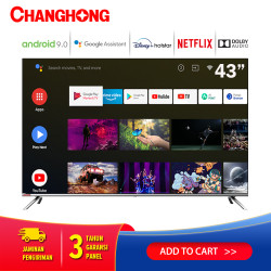 Changhong Framless Google certified Android Smart 43 Inch LED TV L43H7