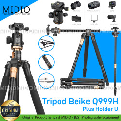 Tripod Premium BEI&KE QZSD Q999H Tripod PRO DSLR Horizontal Tripod dan