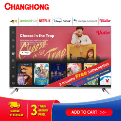 Changhong Framless Android 9.0 4K UHD Smart TV 50Inch LED TV-U50H7