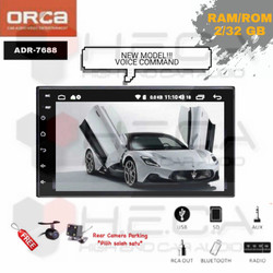 "ORCA ADR-7688 Voice Command Android 7"" Head Unit Double Din & Camera"