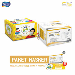 PAKET masker Sensi Duckbill 50 pcs + duckbill kids 40 pcs