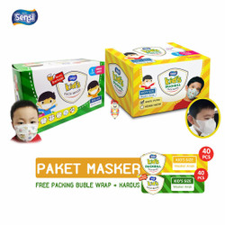 PAKET 2 BOX Masker Sensi Kids Duckbill + Masker Sensi Kids Earloop