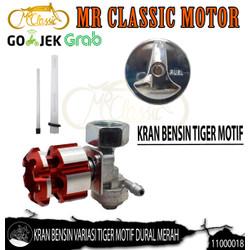 Kran Bensin Variasi Tiger Motif Dural Merah