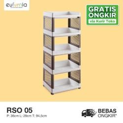 Rak Plastik Tempat Penyimpanan Multifungsi/ Olymplast/ RSO 05