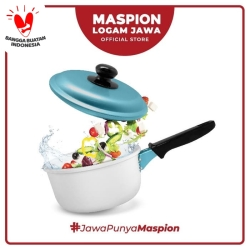 Maspion Panci Winter Single Handle 16 Cm Biru Muda - Panci Aluminium