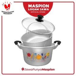 Maspion Panci Multi Purpose Stylish Pearl Tutup Kaca 26 Cm - Aluminium