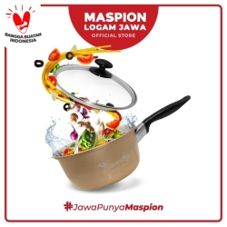 Maspion Panci Bronita Single Handle Tutup Kaca 16 Cm - Panci Aluminium