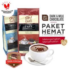 Oh!bali Milk&Dark Chocolate Drink 3in1 Chocolate powder 500g x 2box