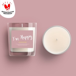 """""""I'm Happy"""" KLEI & CLAY Aromatic Candle"""