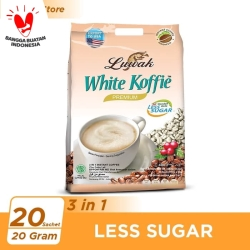 Kopi Luwak White Koffie Less Sugar Bag 20x20gr