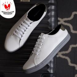 Sepatu Putih Pria Sneakers Casual Cowok - SENNA WHITE GREY - OXWALKER