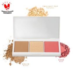 Iomi 3in1 Face Palette (Bronzer, Highlighter & Blush) - Aurora Bloom