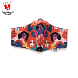Organic Fabric Mask Series : Reuni di hutan rimba