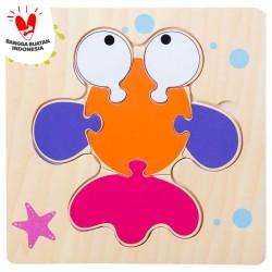 Tweedy Toys - Jigsaw Puzzle Kayu 3D Timbul Lucu Variasi Baru