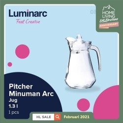 Luminarc Pitcher Minuman Arc - Jug 1.3 l - 1 pcs